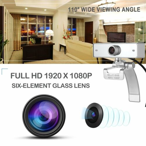 Skype Webcams Cryst Webcam 1080P GUCEE HD92 Full HD Web Camera with Microphone