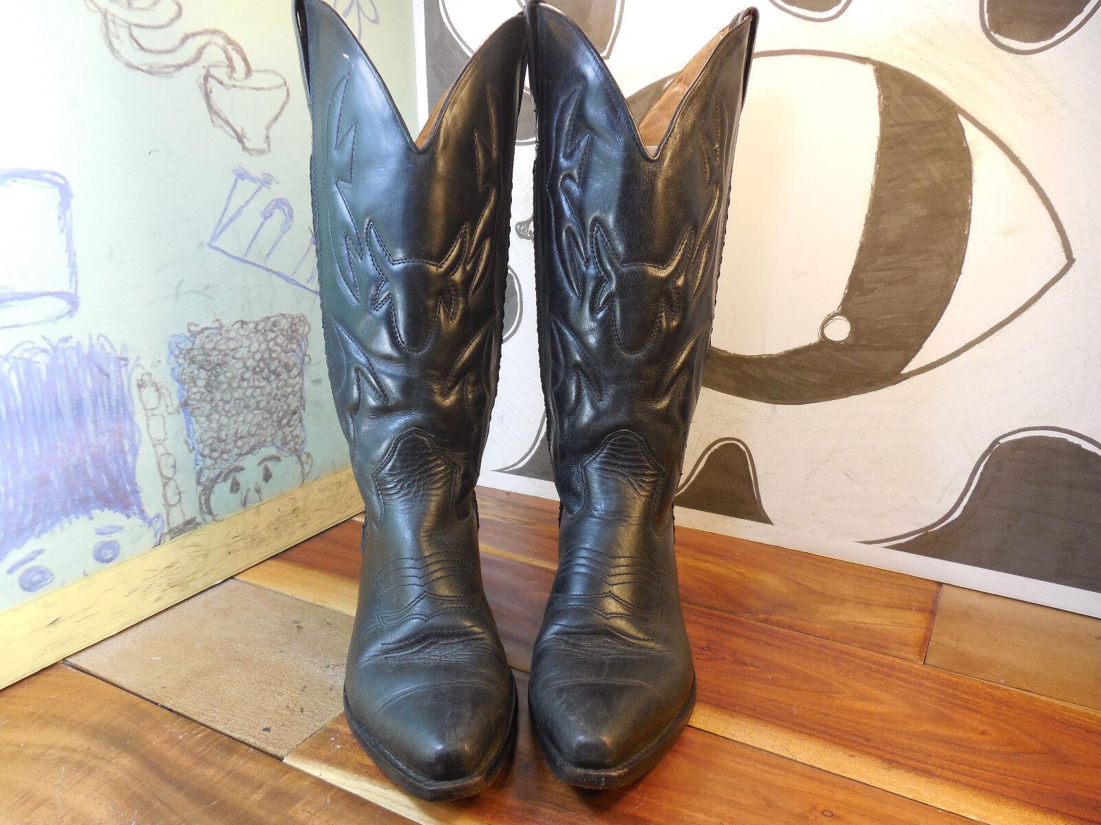 Cole Haan Country Cuero Negro botas Altas Altas Altas Occidentales para mujer 7.5AA Super Lindo  diseñador en linea