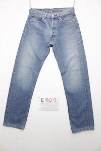 Levi-039-s-501-Boyfriend-Cod-E809-Tg45-W31-L34-jeans-ACCORCIATO-usato-Vita-Alta