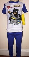 Batman Lego Boys Blue And White 2 Piece Pajamas Size 5