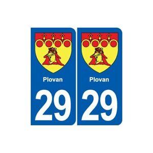 100% Vrai 29 Plovan Blason Autocollant Plaque Stickers Ville La DernièRe Mode