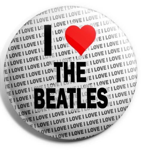 I Love The Beatles Badge Magnet Back - Birthday - Gift - Stocking Filler