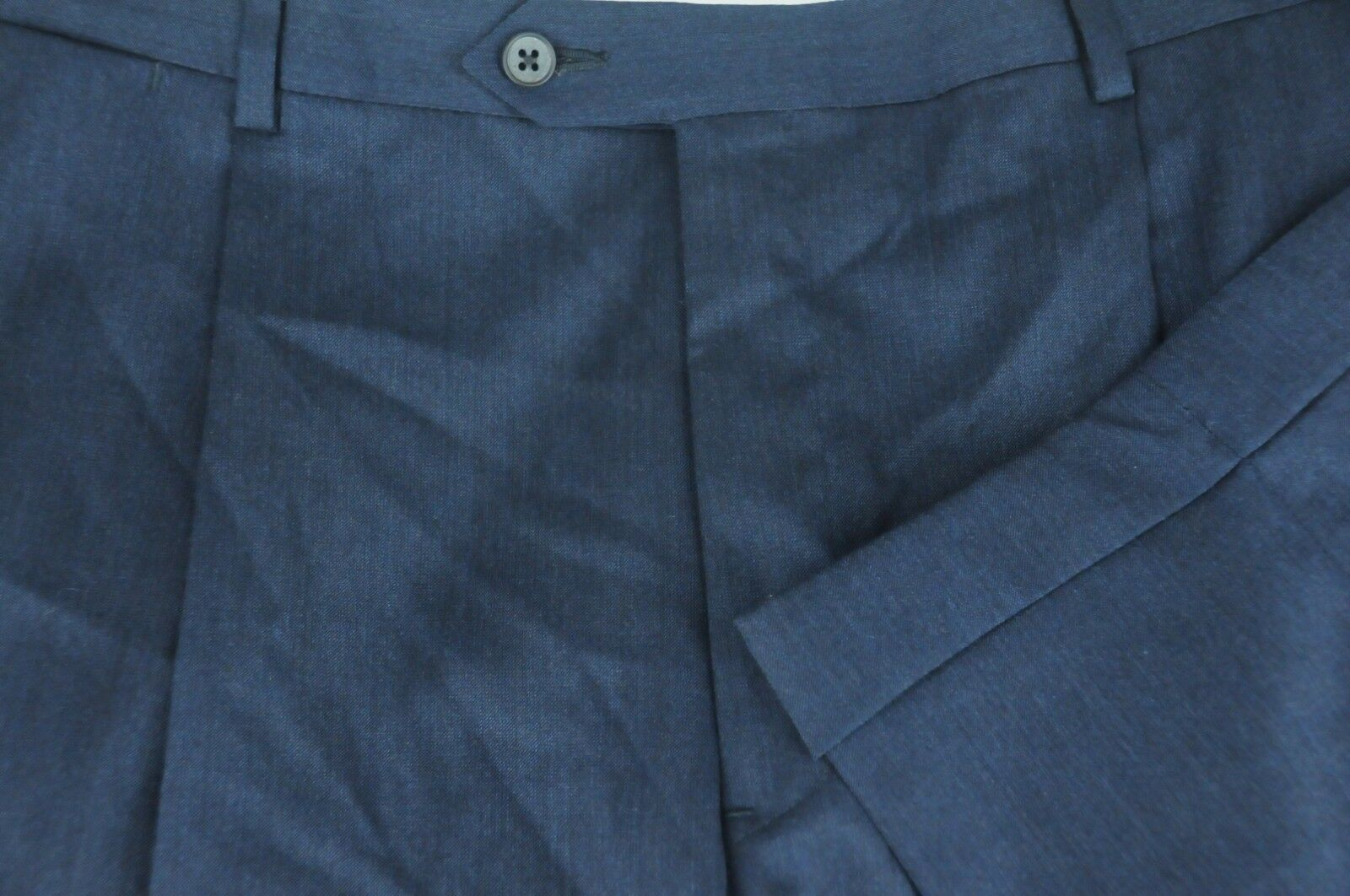 Daniel Cremieux Men's bluee Wool Silk Blend Pleated Dress Pants 39 x 24