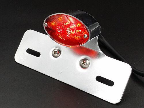 LED Brake Tail Light License Plate Bracket Holder for Cruiser Chopper ATV Cafe