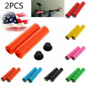 USA-MTB-Soft-Foam-Silicone-Sponge-Handle-Bar-Grips-Handlebar-Cover-Bike-Bicycle