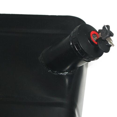 Black Steel Fuel Gas Tank With Lock Cap Willys 46-64 Cj 2a Cj-3b Ford Jeep ECs