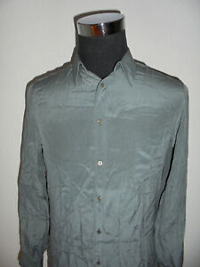 vintage-H-C-Wagner-Hamburg-St-Moritz-designer-Hemd-Seide-shirt-seta-glanz-M