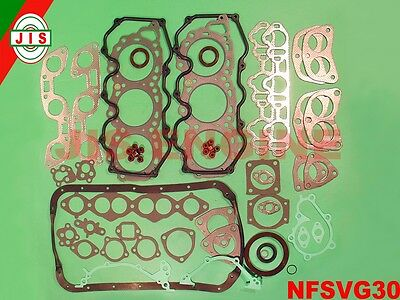 Fits 86-95 Nissan D21 Pathfinder 3.0 Full Gasket Pistons Bearing Rings Set VG30E
