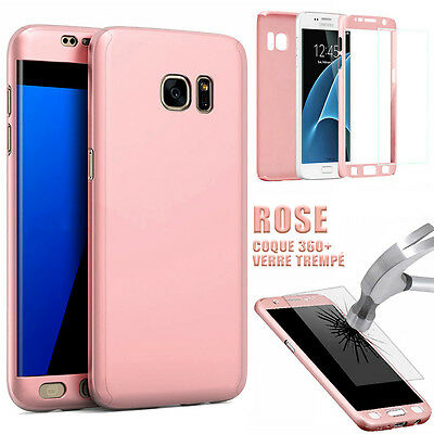 Etui Coque Housse + Film Verre Trempe Protection Integrale 360° Samsung Galaxy