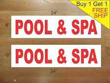 """POOL /& SPA COMBO 6/""""x24/"""" REAL ESTATE RIDER SIGNS Buy 1 Get 1 FREE 2 Sided Plastic"""