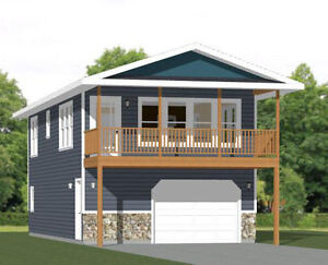 20x40 House -- 2 Bedroom 1.5 Bath -- 859 sq ft -- PDF Floor Plan -- Model 7Q