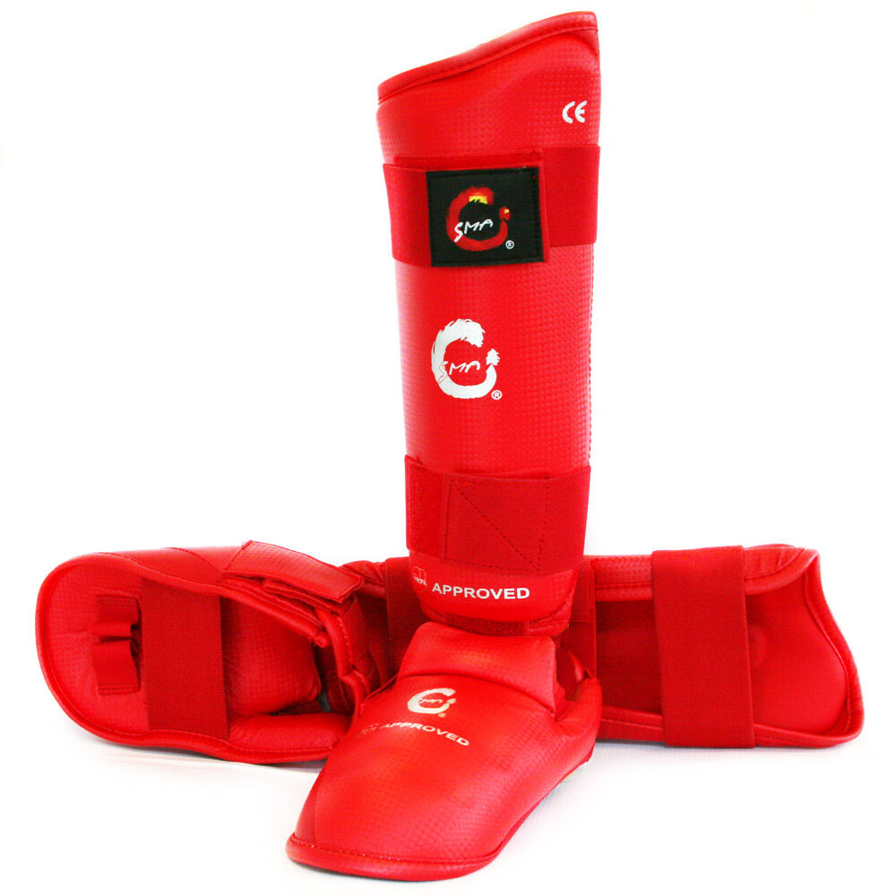 SMAI WKF APPROVED KARATE SHIN GUARD INSTEP, SHIN PredECTOR WITH INSTEP