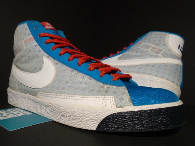 WOMEN 2009 NIKE DUNK SB BLAZER HIGH HIGH HIGH TURQUOISE blueE WHITE RED 317808-411 10 11.5 1c68d2