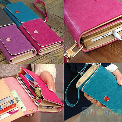 NW FAUX LEATHER WALLET PURSE CASE COVER FOR SAMSUNG GALAXY S2 S3 BC4K