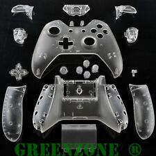 Clear Xbox One Replacement Custom Controller Shell with Buttons Mod Kit