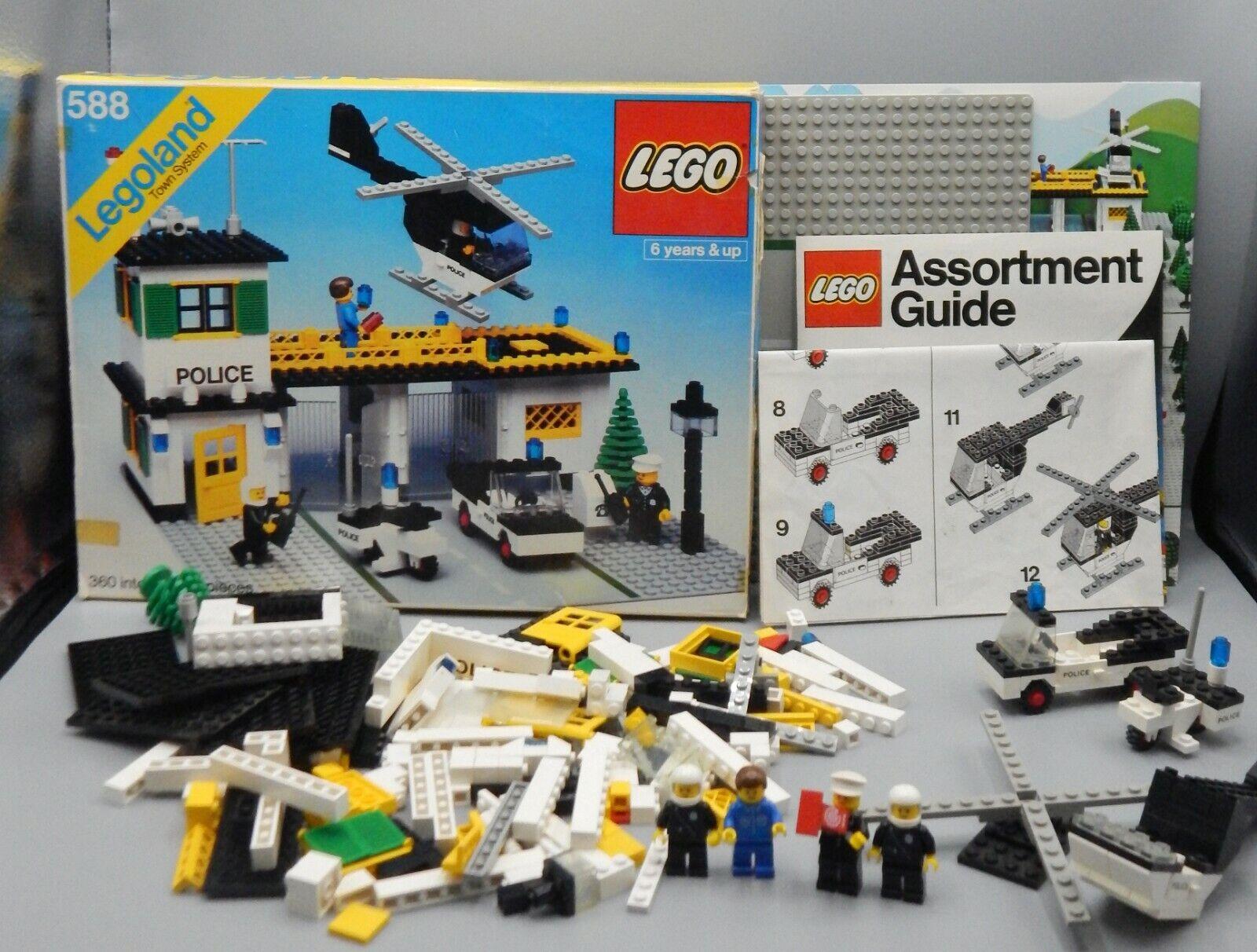 Vintage 1979 LEGO Town Police Headquarters 588 COMPLETE w  Box LEGOLAND City