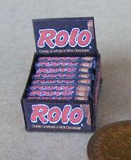 1:12 casella Visualizzazione di Rolo CIOCCOLATO Toffee pacchetti DOLLS HOUSE miniatura Caramelle