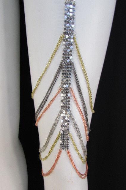 Nouveau Femme Cuisse Maille Argent Etain Jambe Métal or Jambe Etain Chaîne Mode Corps Bijoux d0bc9b