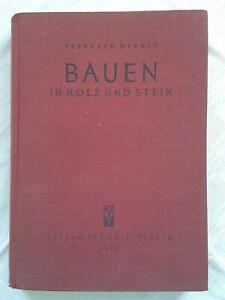 Bauen-in-Holz-und-Stein-DDR-Fachbuch-1951-Verlag-Technik