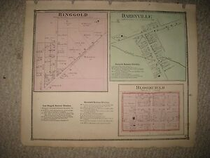 Antique 1871 East Ringgold Darbyville Bloomfield Pickaway County
