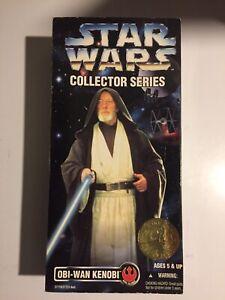 1996-Star-Wars-Collector-Series-12-inch-Obi-Wan-Kenobi-034-Dark-Blue-034-Variant-New