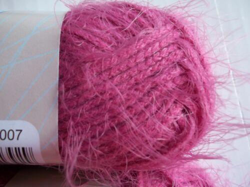 Lighthouse Windsong fuzzy fashion yarn lot of 2 Fuchsia 92 yds each