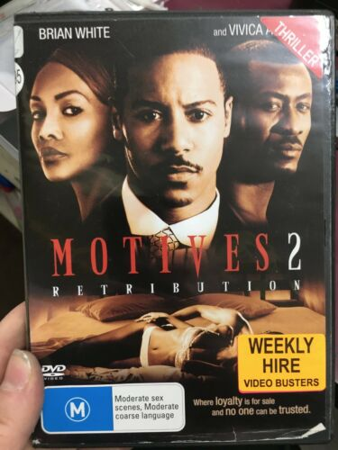 1 of 1 - Motives 2 Retribution ex-rental region 4 DVD (2007 Vivica A. Fox thriller film)