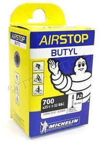 "40mm Presta Valve 700c 27/""x1-1//4/"" Michelin Airstop Butyl Bike Tube 700x25-32"