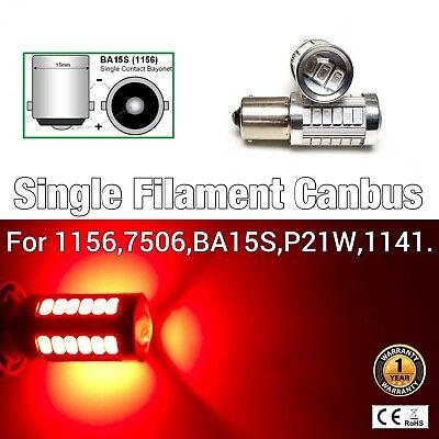 1156 BA15S 7506 P21W 1141 Rear Turn Signal Light SMD CANBUS LED 6000K White M1 M