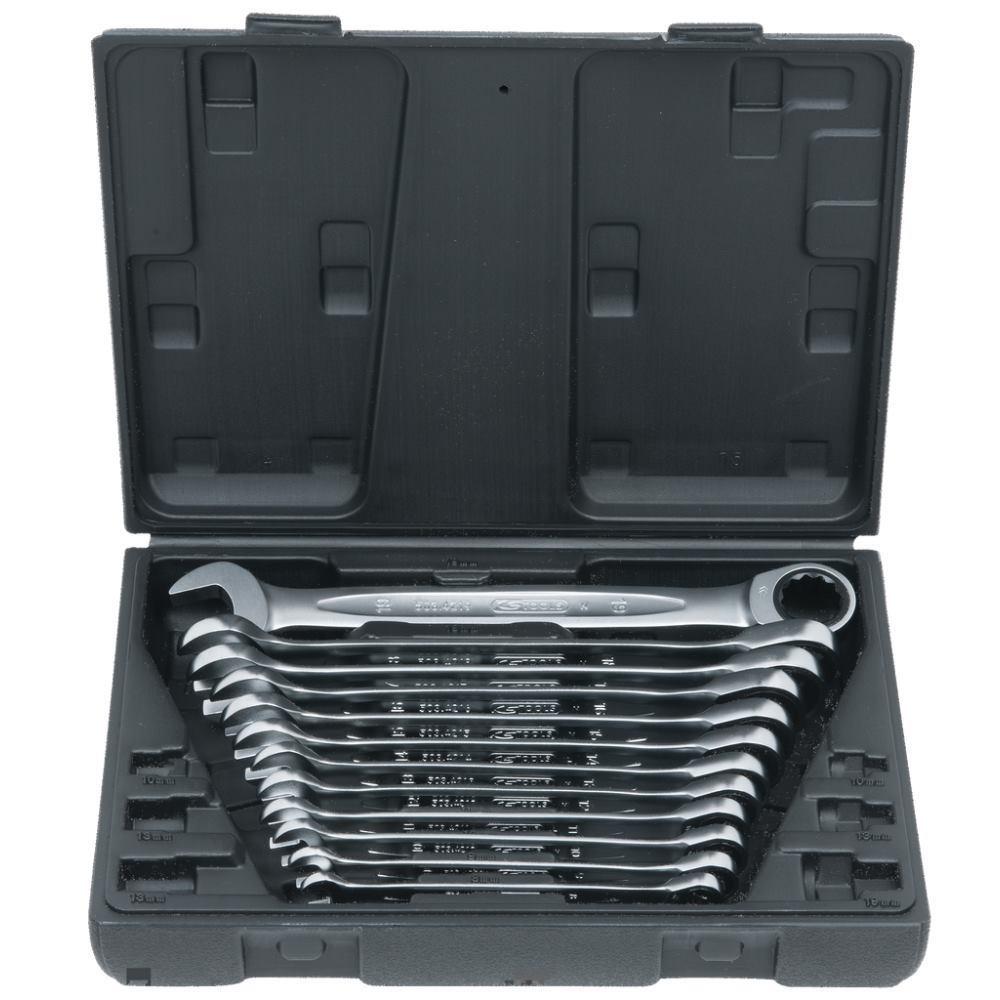 Ks_Tools GEARplus® Ratschenringmaulschlüssel-Satz, 12-tlg. 503.4265