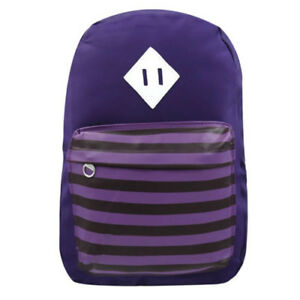Trendy-Travel-Plain-and-Stripe-Design-School-Backpack-Indigo-SL