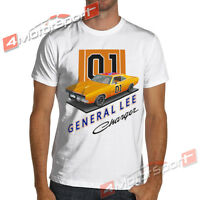 General Lee 01 Charger Muscle Car White Or Gray T-shirt The Dukes Of Hazzard