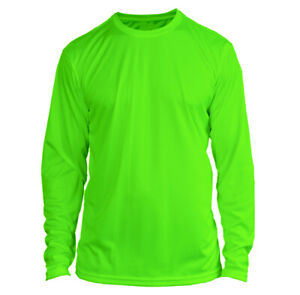 Microfiber Long Sleeve Fishing Shirt UPF 50 NEON GREEN N//G