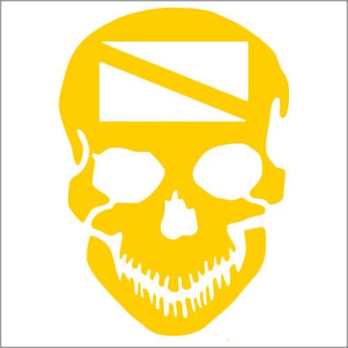 Scuba Dive Skull Vinyl Decal TWO Pack Sticker 2