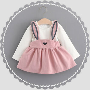Toddler Baby Kids Girls Long Sleeve Princess Wedding Party Gown Prom Dress 2019