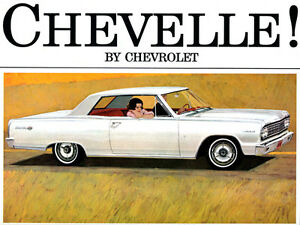 38f1b4bc50a La foto se está cargando 1964-Chevrolet-Chevelle -Cartel-De-Publicidad-Promocional