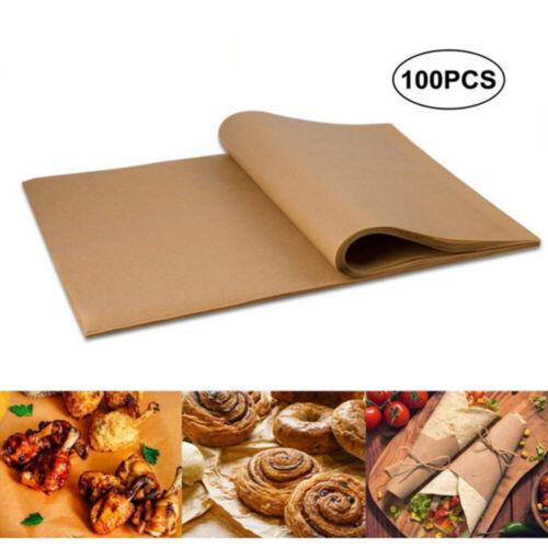 "100 Sheets Non-Stick Parchment Paper Non-StickBaking Pan Liner 12/"" X 16/"""