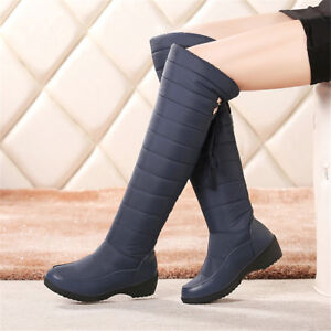 6282687b47cb Snow Boots Waterproof Over The Knee Thigh High Winter Shoes Women ...