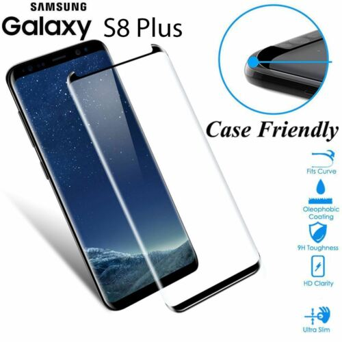 Case Friendly Tempered Glass Screen Protector Full Cover Samsung Galaxy S8 Plus