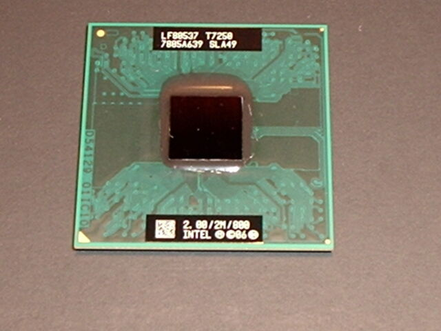 Genuine Intel Core 2 Duo T7250 Sla49 CPU Tested