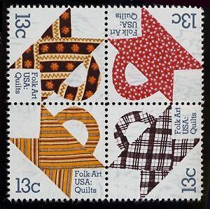 #1748a 13c Edredones, Se-Tenant Bloque, Nuevo Cualquier 5=