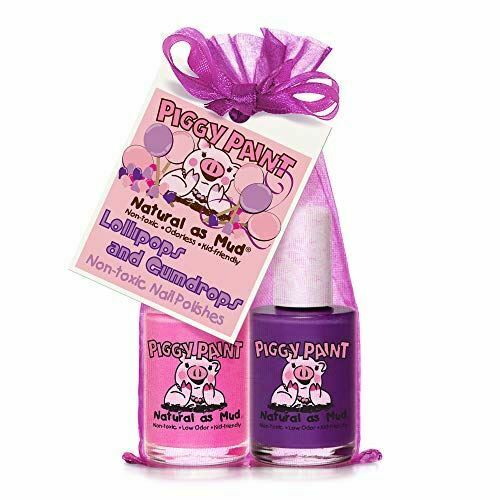 Piggy Paint 2 Nail Polish Natural Kid Non Toxic Lollipops and Gumdrops Set