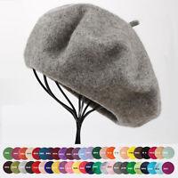New Women Sweet 100% Wool Warm Winter Beret French Artist Beanie Hat Ski Cap Hat