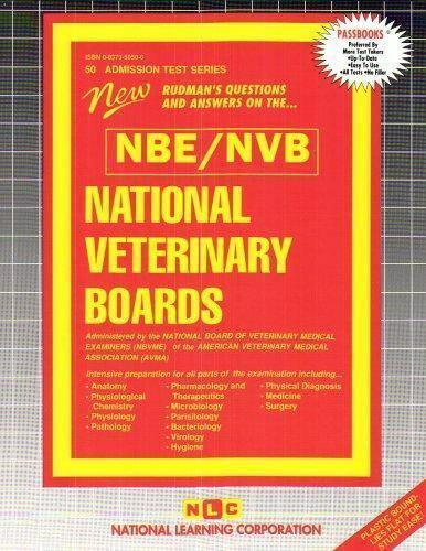 National Learning Corporation-National Veterinary Boards (Nbe) (Nvb) (1 BOOK NEW