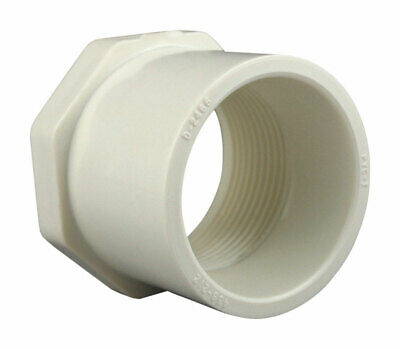 High Tensile and Sound Deadening for Home or Industrial Use Schedule 40 PVC Pressure Durable Spigot x Socket Easy to Install Charlotte Pipe 2 X 1-1//2 Reducer Bushing Pipe Fitting - Single Unit
