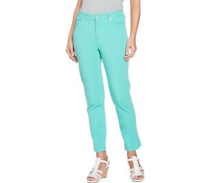 Isaac-Mizrahi-Womens-Regular-24-7-Colored-Denim-5-Pocket-Ankle-Jeans-Size-12-QVC