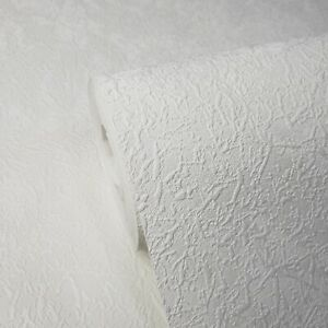 Embossed-Wallpaper-White-Modern-Plain-Wallcoverings-rolls-faux-plaster-Textured