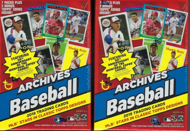 2 2019 Topps Archives Baseball Mlb Baseball Cards 71 Bonuspack Blaster Bx Lot
