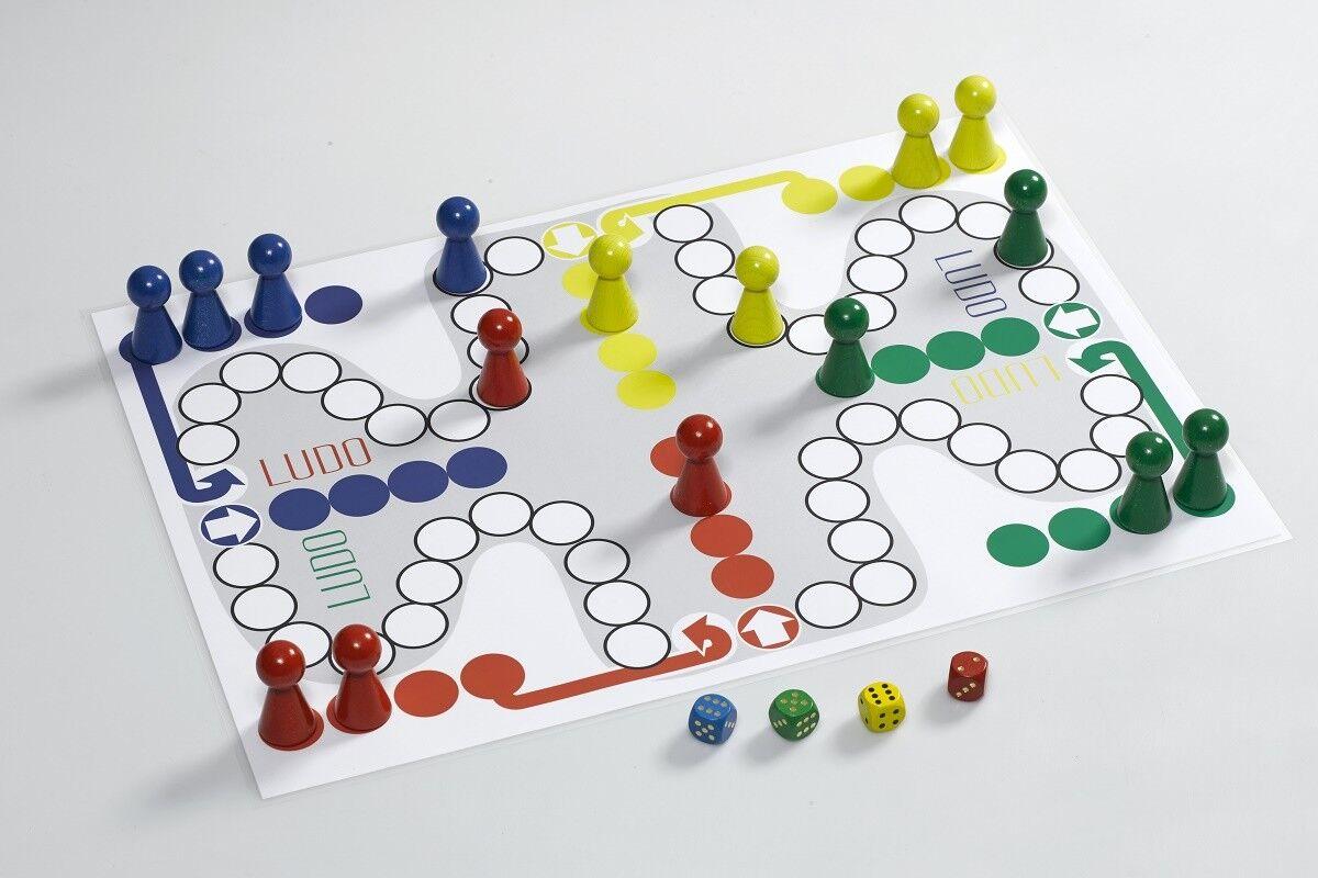Énorme jeu de plateau Ludo  Géant  60 x 85 cm dés Seniors Enfants