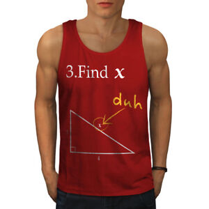 Wellcoda-trouver-X-Homme-Tank-Top-Drole-Math-Active-Sports-Shirt